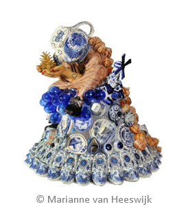 Marianne van Heeswijk delftblauwe vrouw